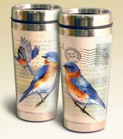 American Expeditions Bluebird Postcard Steel Travel Mug