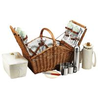 Picnic at Ascot Huntsman Basket for 4 with Coffee Service -Gazebo