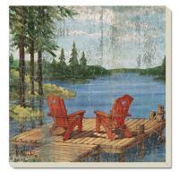 Counter Art Lakeside Dock Coasters, Set of 4