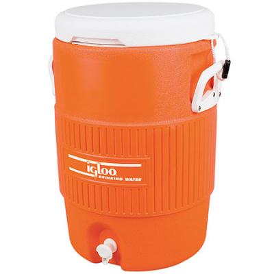 Igloo-seat Top Hard Sided Cooler - 5gal Orange With White Lid