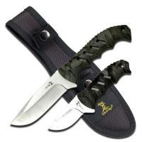 "Elk Ridge Fixed Blade Knife Set 4.35"" & 2.5"" Blades"