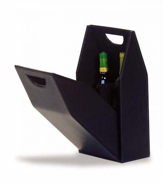 Picnic Plus Signature Double Bottle Box - Black