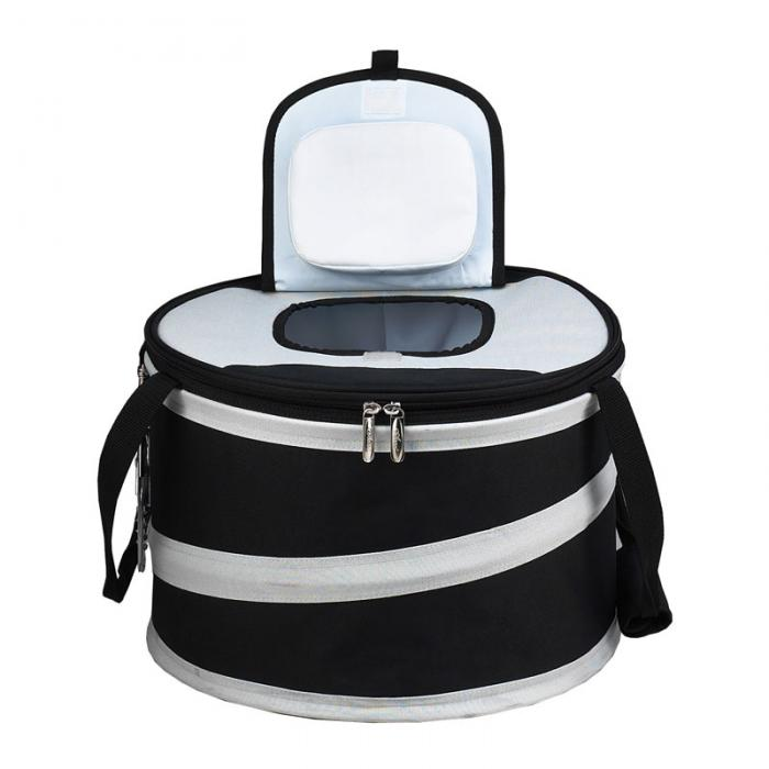 Picnic at Ascot 24 Can Collapsible Cooler -Black/Grey