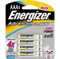 Energizer Advanced Lithium AAA Batteries, 4 Pack