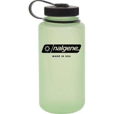 Nalgene Tritan Wide Mouth Bottle, 1 Qt Glows Green