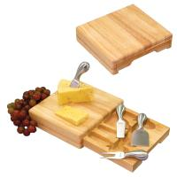 Picnic Time Festiva Square Cutting Board With Drawer