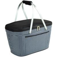 Picnic at Ascot Collapsible Cooler Basket, Houndstooth