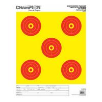 Champion Traps & Targets Shotkeeper 5Bulls Bright Y w/Red Lg 12Pk