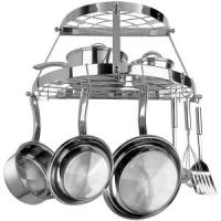 Two Shelf Wall-mount Pot Rack (Stainless Steel)