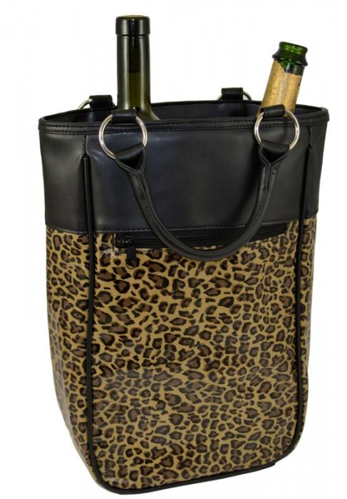 Primeware Harmony Two Bottle Wine Tote - Leopard