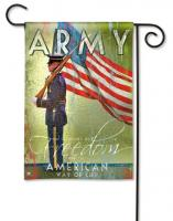 Magnet Works Army Garden Flag