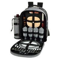 Picnic at Ascot  Picnic Backpack for 4, Houndstooth