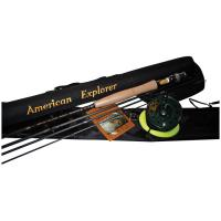 American Explorer 4 Pc Fly Rod with Case, Reel, Ldr