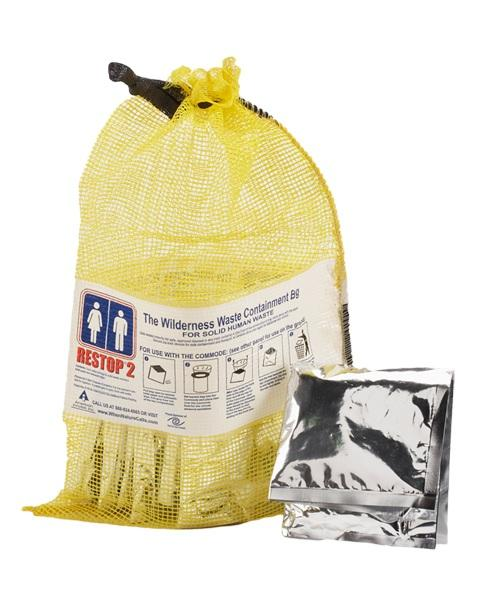Restop Wilderness Waste Containment Pouch, 20/5 packs