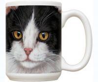 Fiddler's Elbow Black & White Cat 15 oz Mug