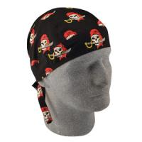 Flydanna 100% Cotton Bandana, Gray Pirate