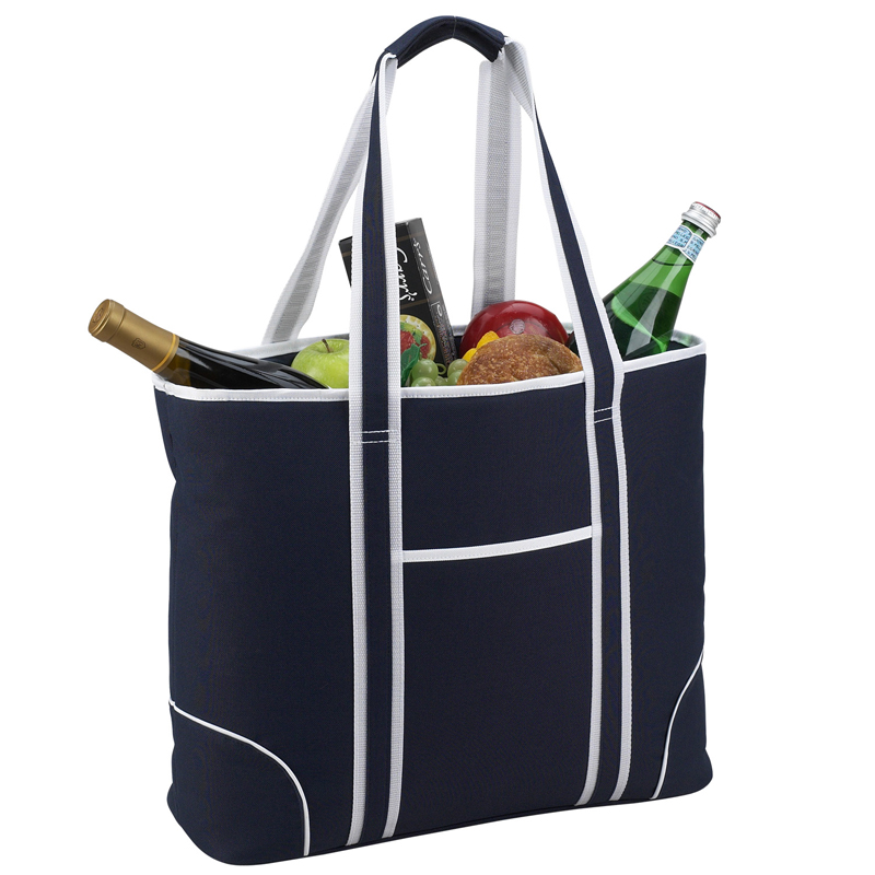 picnic at ascot extra large insulated cooler bag 30 can tote navy