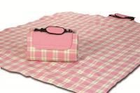 """Mega Mat Folded Picnic Blanket with Shoulder Strap - 68"""" x 82"""" (Pink Sherbert)"""