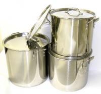 Stainless Steel Stock Pot Set - 32qt, 40qt & 52qt