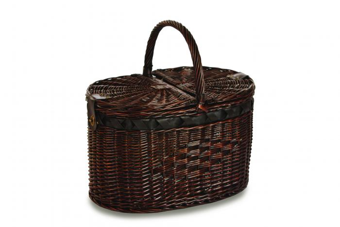 Picnic Plus Torrington Handmade Picnic Basket for 4