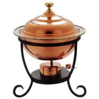 "Old Dutch 12"" x 15"" Round Decor Copper Chafing Dish 3 Qt"