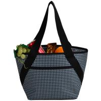 Picnic at Ascot Stylish Insulated Lunch Bag - Lunch Cooler Tote - Houndstooth