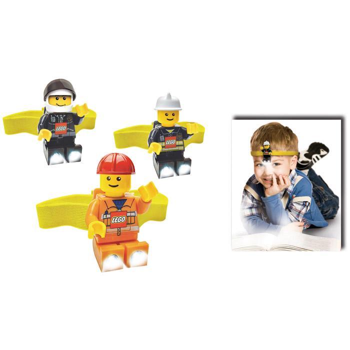 Sun Lego City Headlamp - Assorted - Construction Worker, Policeman, and Fireman