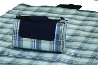 """Mega Mat Folded Picnic Blanket with Shoulder Strap - 68"""" x 82"""" (Varsity Blue Plaid)"""