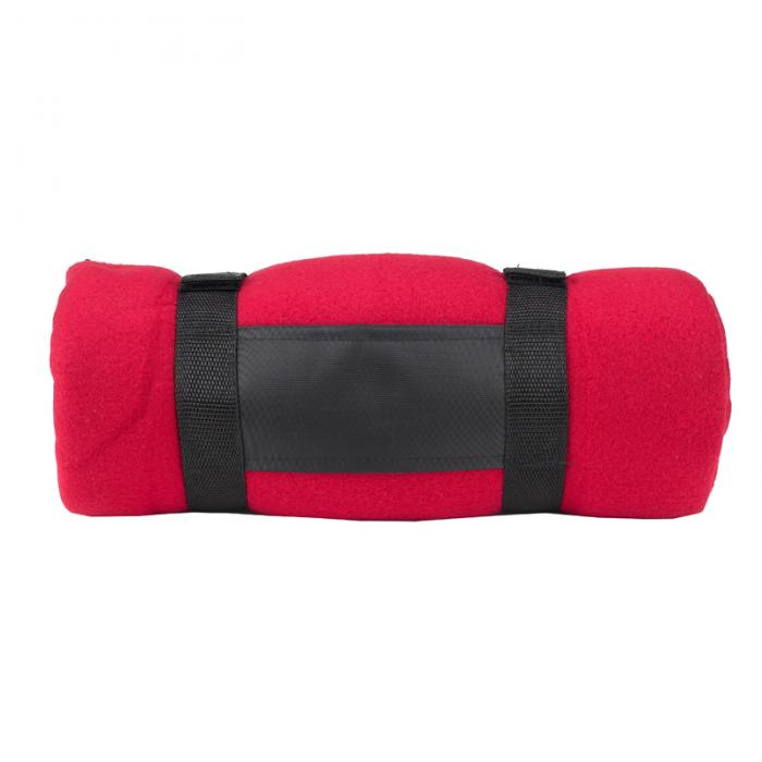 Picnic at Ascot Fleece Blanket with Carrier -Red