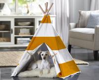 Merry Products Orange Stripe Large Pet Teepee