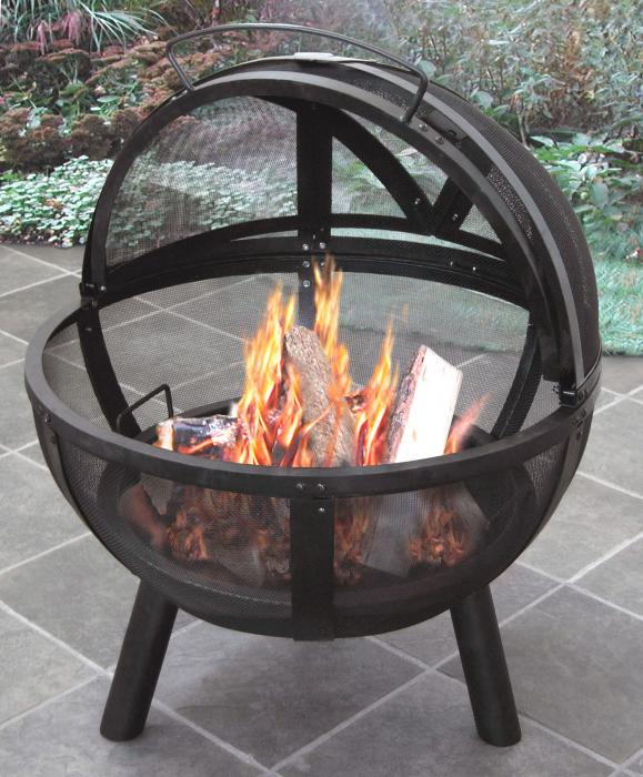 "Landmann Ball O' Fire w/ 30"" Steel Bowl and Includes Cover"