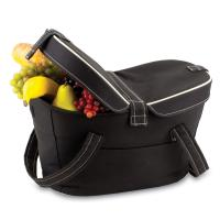 Picnic Time Mercado Empty Picnic Cooler Basket, Black