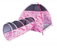 Pacific Play Tents Children's Pink Camo Tent & Tunnel Combo