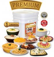Relief Foods 1-Month Premium Emergency Food Supply - 150 Serving, Premium Entrée Only Bucket