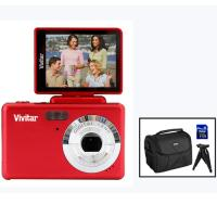 Vivitar 16.1 MP iTwist Digital Camera Red Kit
