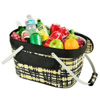 Picnic at Ascot Insulated Market Basket / Picnic Tote - Paris