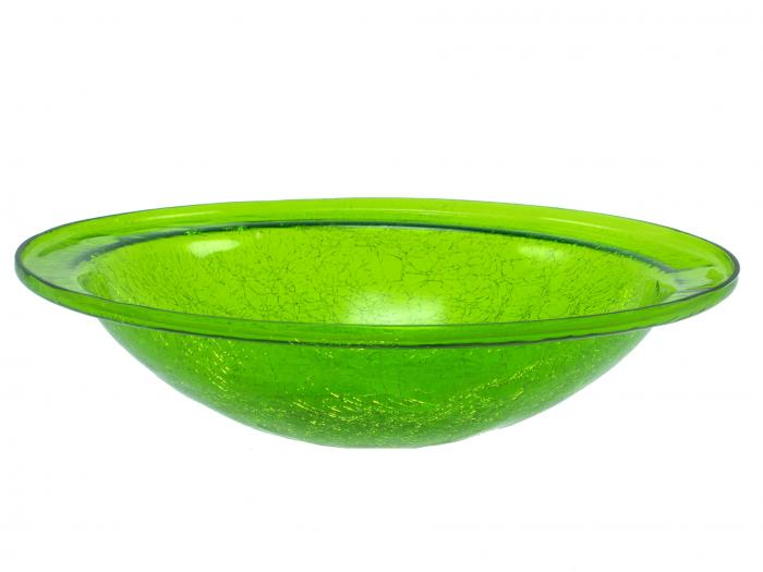 Achla Crackle Glass Bowl, Fern Green (no cradle)