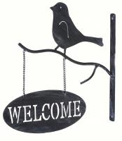 Evergreen Enterprises Bird Wall Dicor with Welcome Sign