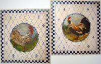 Decorative Rooster Country Wall Plaques, Set of 2