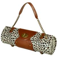 Picnic at Ascot Wine Purse - Snow Leopard