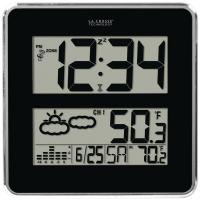 La Crosse Technology 512B-811 Large-Digit Atomic Clock with In/Out Temp & Forecast