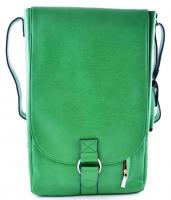 Primeware Vino2 Green Faux Leather Messenger Bag Style Two Bottle Wine Tote