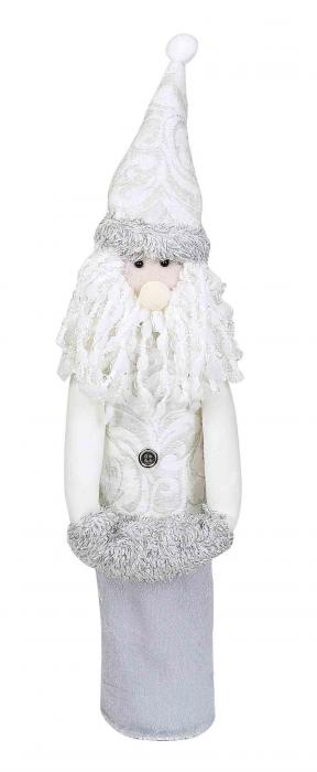 Primeware White Christmas Wine Sock - Santa