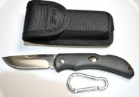 EKA Swede10 Heavy Duty Folding Knife Black w/Sheath