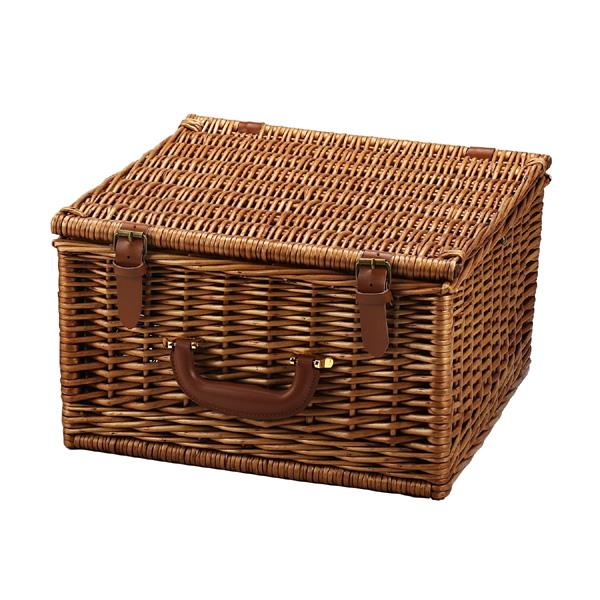 Picnic at Ascot Cheshire English-Style Willow Picnic Basket with Service for 2  - Gazebo