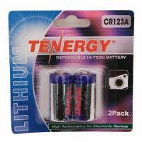 Tenergy CR123 2Pack (Retail),Chrome
