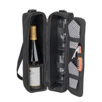 Picnic At Ascot Sunset Wine Tote for 2  -Black