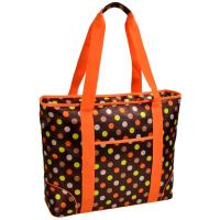 Picnic at Ascot  Extra Large Insulated Cooler Bag - 30 Can Tote - Julia Dot