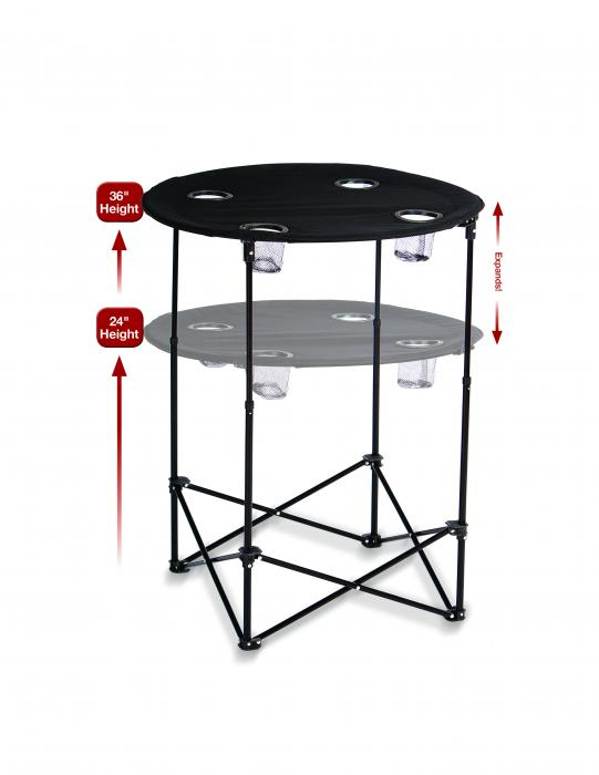 Picnic Plus Scrimmage Tailgate Table - Black