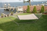 """Bliss Hammocks """"S"""" Stitched Classic Comfort Poly Quilted Hammock - Canvas White"""